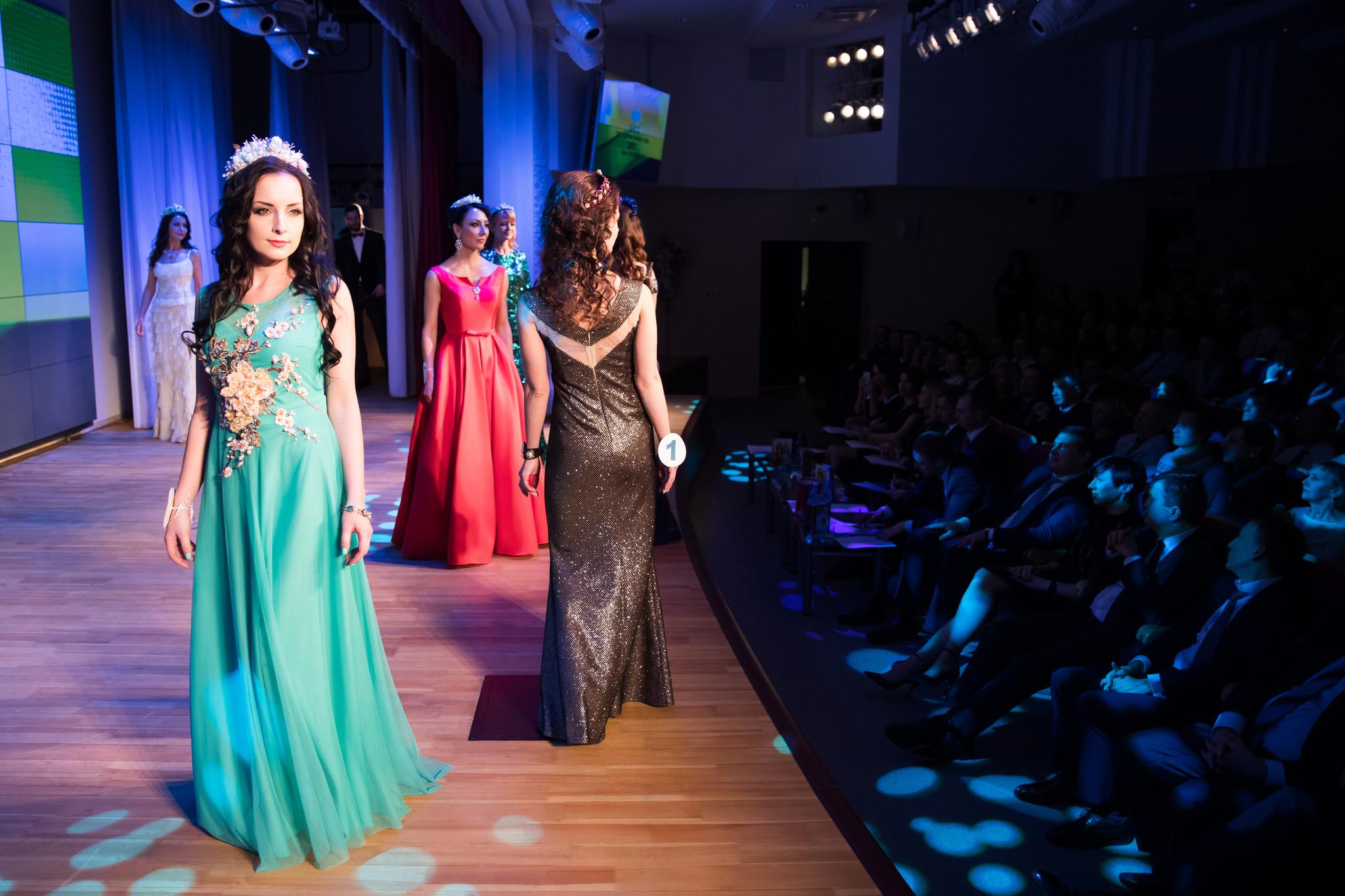Конкурс дефиле вечерние платья